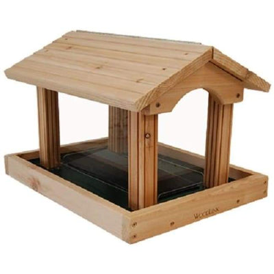 Professional Series Large Cedar Hopper Bird Feeder - BirdHousesAndBaths.com