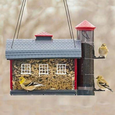 Red Barn Bird Feeder - BirdHousesAndBaths.com