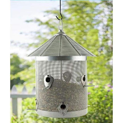 Rustic Farmhouse Mesh Silo Bird Feeder - BirdHousesAndBaths.com
