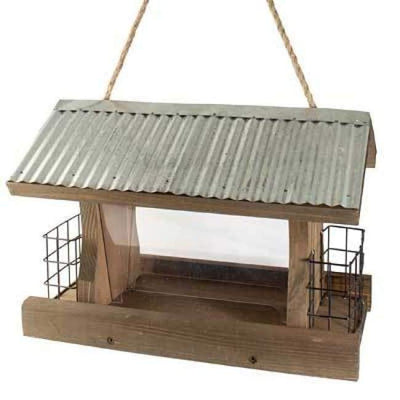 Rustic Farmhouse Ranch Seed and Suet Bird Feeder - BirdHousesAndBaths.com