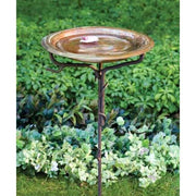 Solid Copper Bird Bath with Stake - BirdHousesAndBaths.com