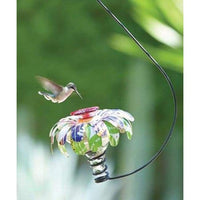 Sugar Shack Hummingbird Feeder with Hook, Clear - BirdHousesAndBaths.com