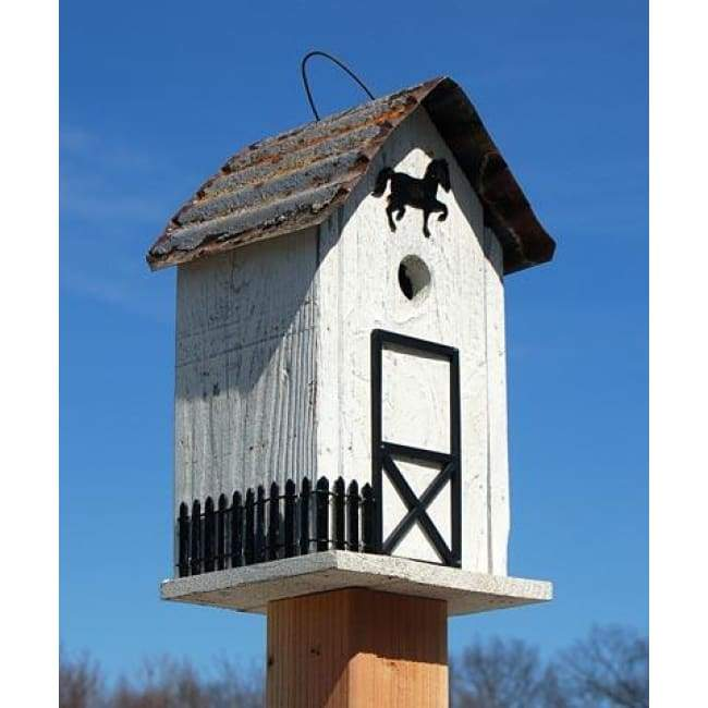 White Summitville Stable Bird House