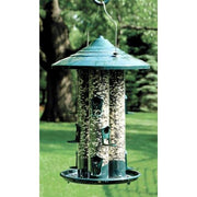 Green Triple Tube Bird Feeder