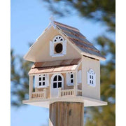 Victorian Cottage Butternut Bird House - BirdHousesAndBaths.com