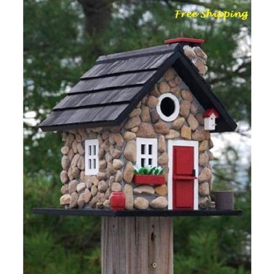 Windy Ridge Stone Bird House - BirdHousesAndBaths.com