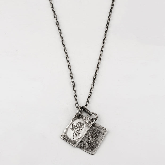 Rose Tags Necklace
