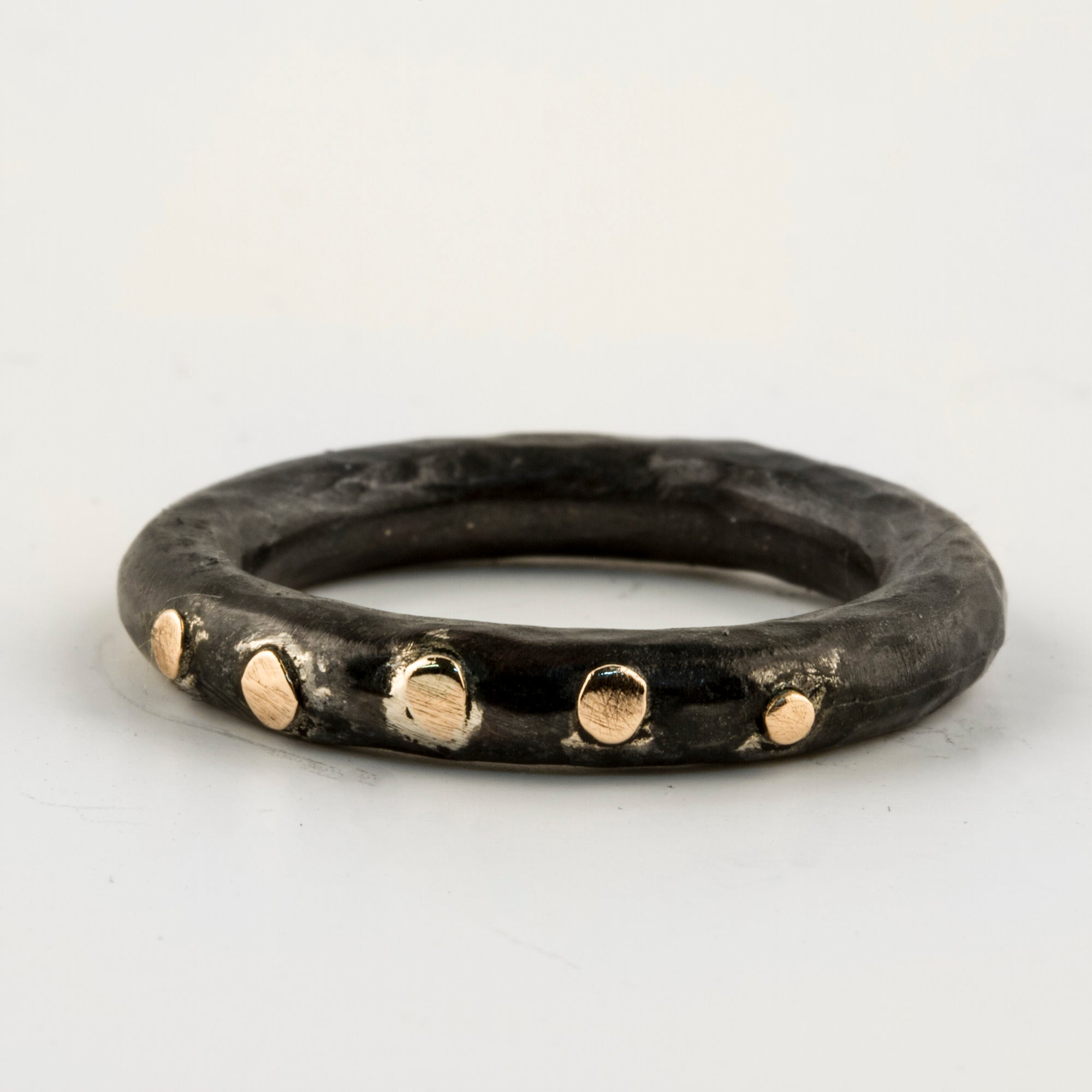 Gold Dots Stacker Ring