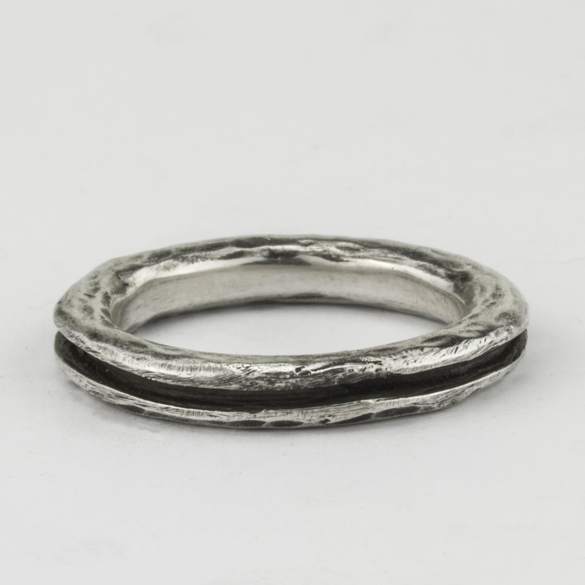 Carved Cavity Stacker Ring