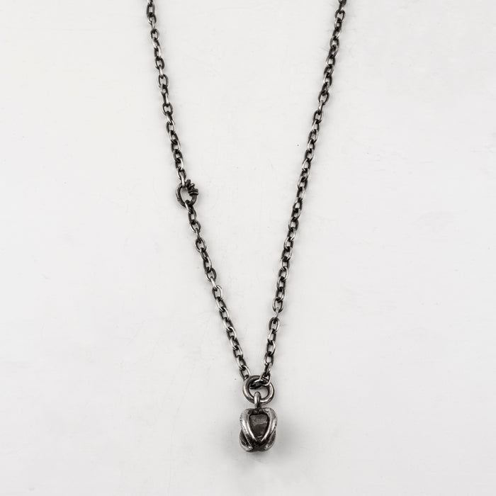 Raw Diamond Cage Necklace
