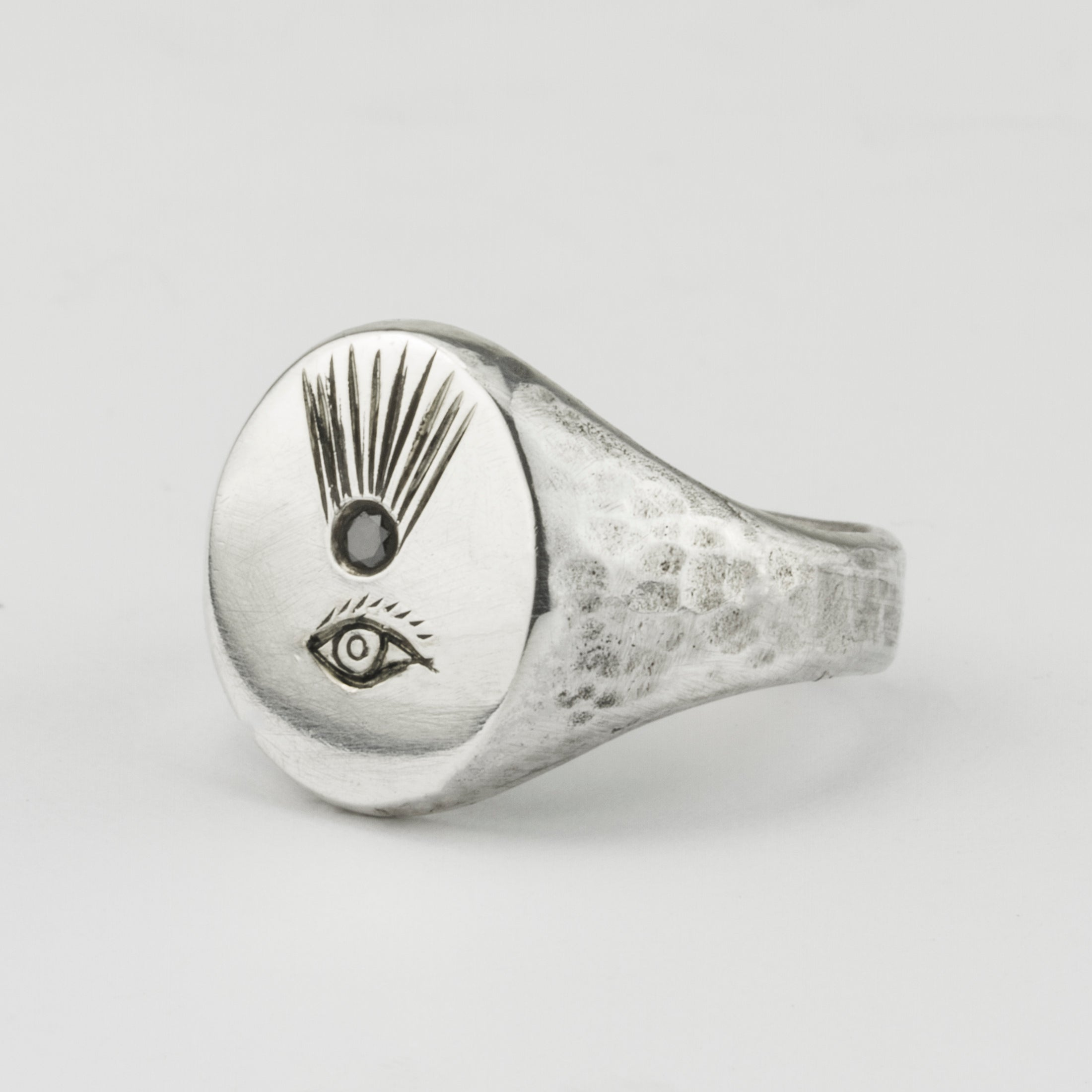 Eye and Comet Signet Ring