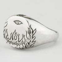 Flaming Eye Signet Ring