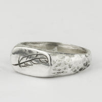 Engraved Quill Signet Ring