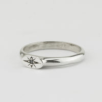 Fine Oval Star Signet