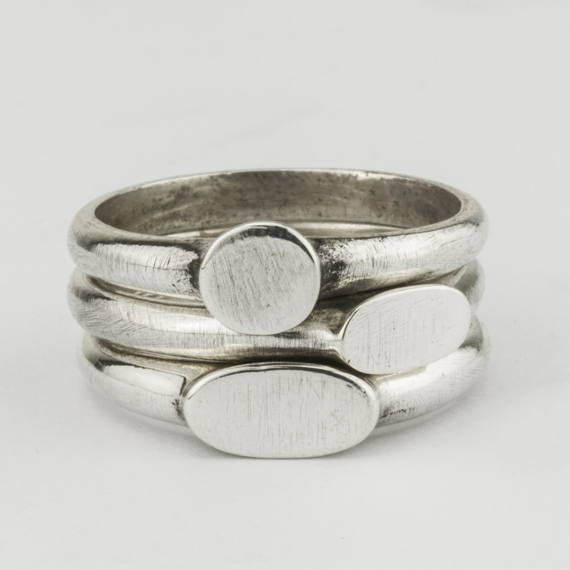 Fine Signet Ring Stack Set