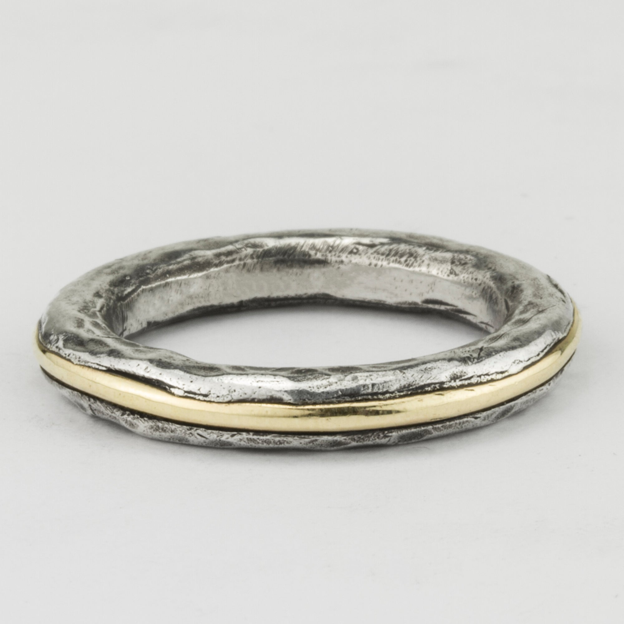 Gold Stripe Stacker Ring