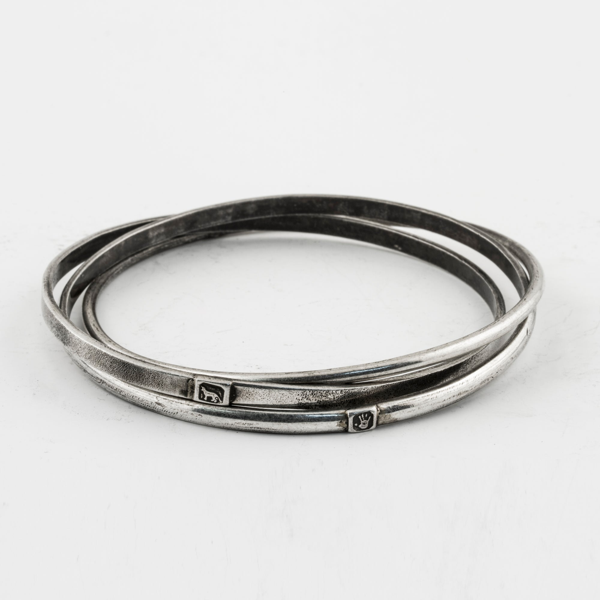 Linked Bangles with Hallmarks