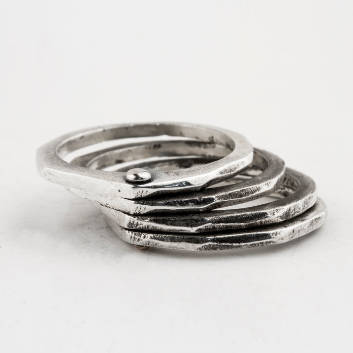 Fine Carved Linked Rings