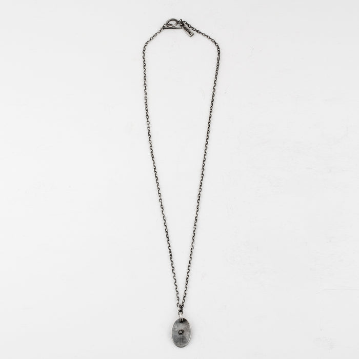 Rose Diamond Tag Necklace