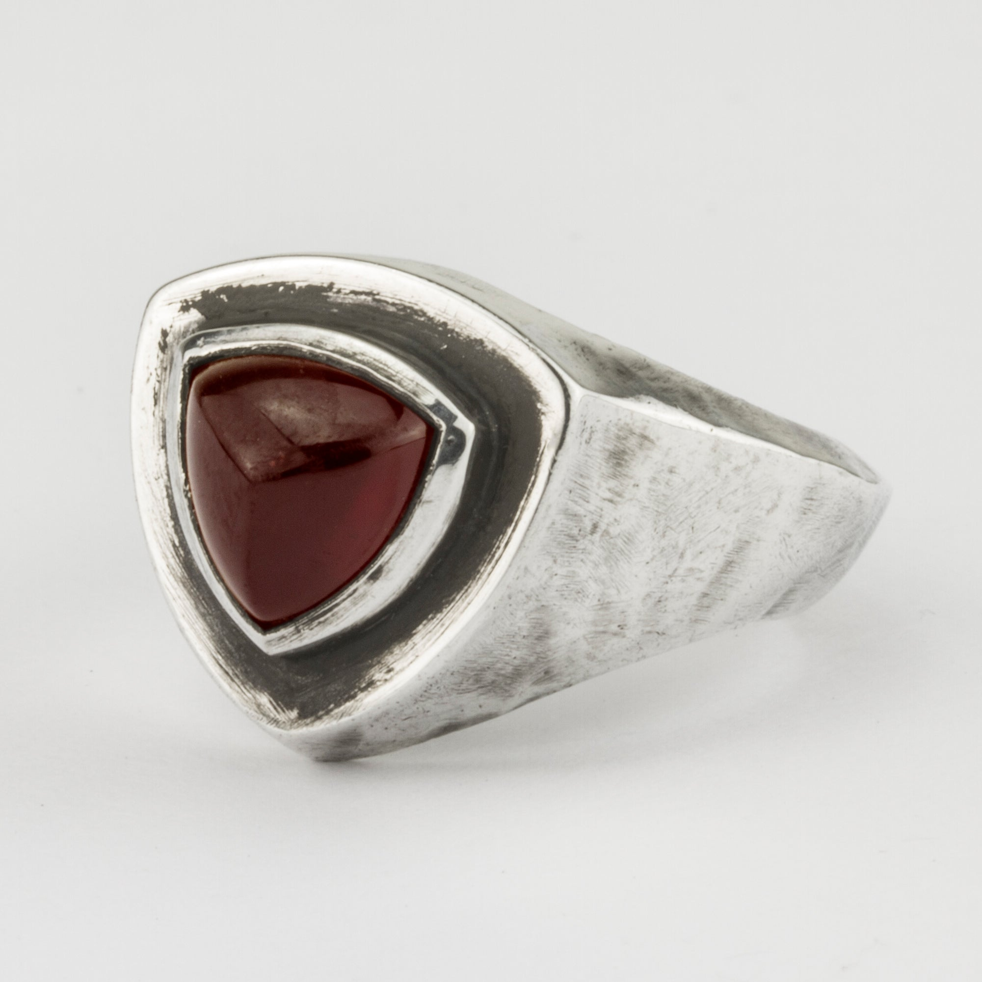 Red Garnet Signet Ring