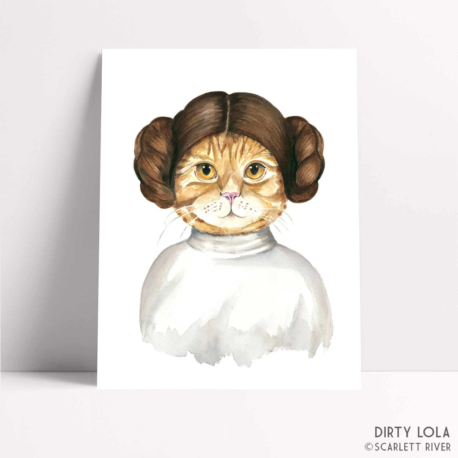 Princess Cat Art Print