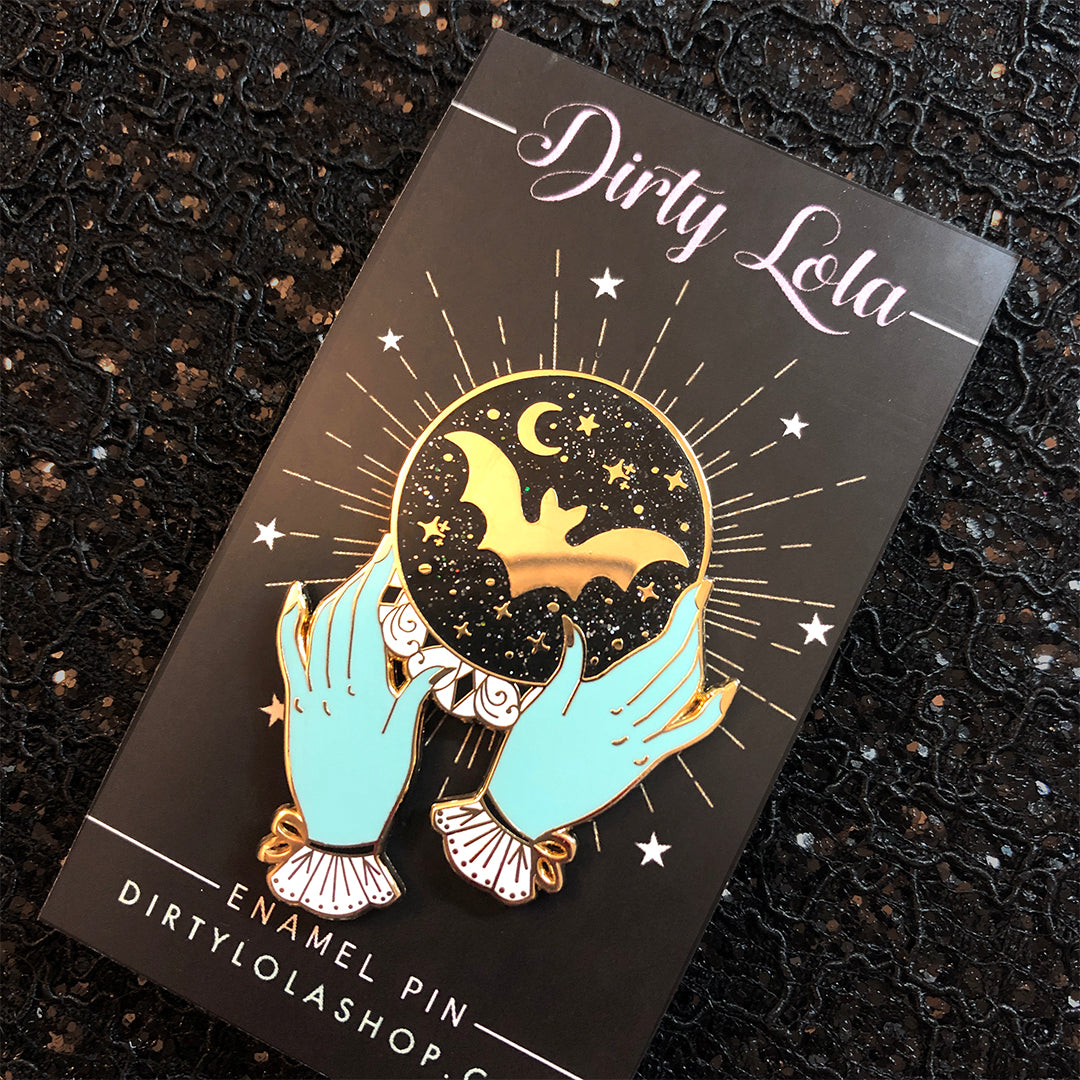 Future Is Dark Enamel Pin
