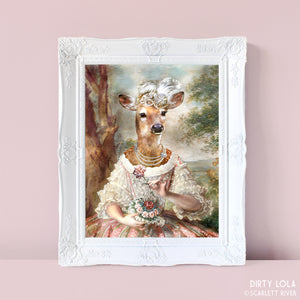 Portrait of a Fawn Art Print