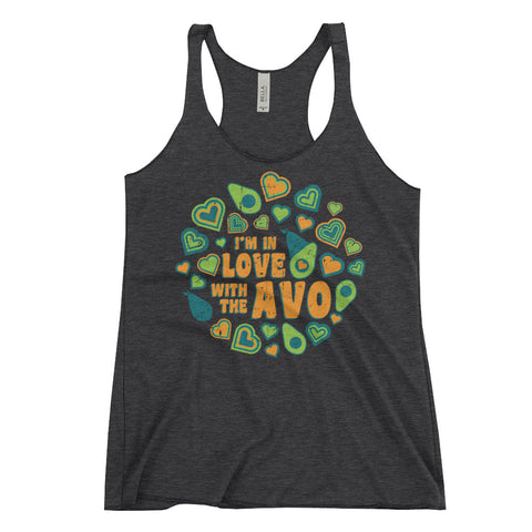 I'm in Love with the Avo! - Women's Racerback Tank