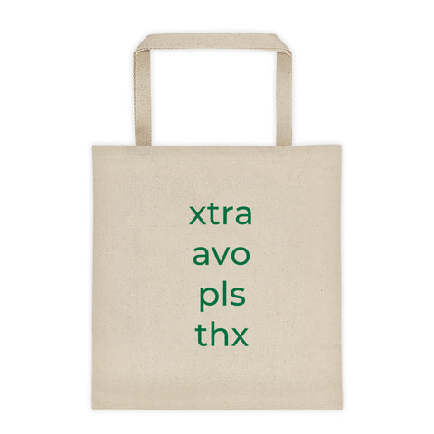Xtra Avo Pls Thx Tote bag