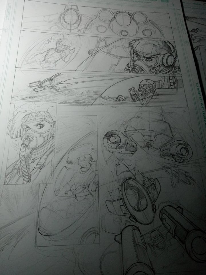 Pixi Runner Sketch Pages -- Witch & The Wasp Cover Update