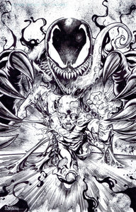 VENOM V FLASH -- FINISHED POSTER -- WHY WE RULE COMICS