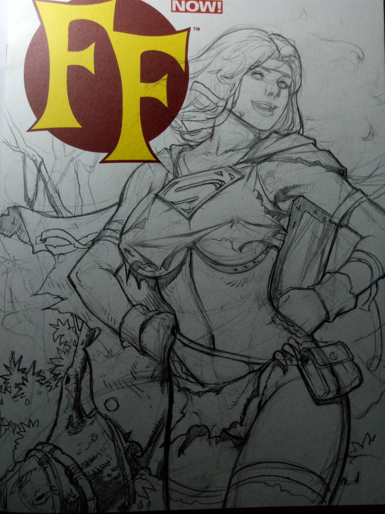 Savage Supergirl & Harley Sketches