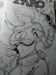 Savage Power Girl Sketches -- Darth Veranus Update
