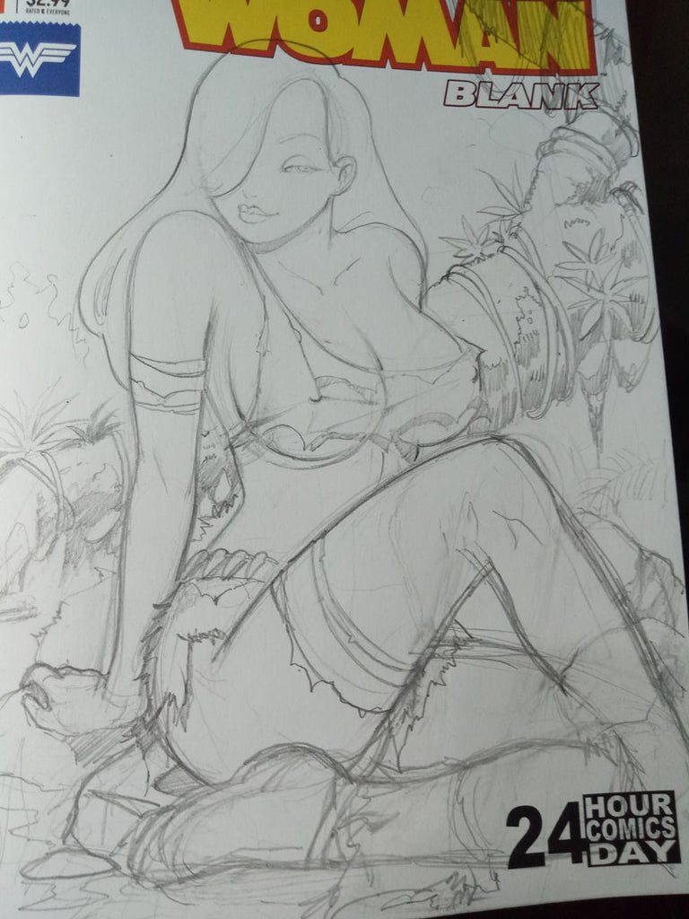 Jessica Rabbit in the Savage Land -- Frozen Harley -- Sketch up Saturday