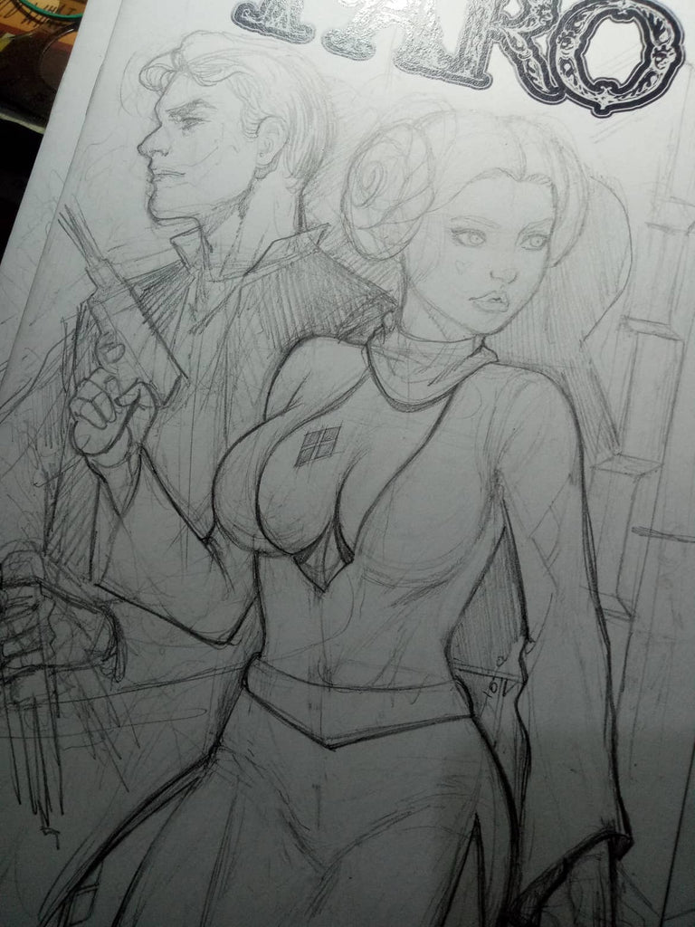 Harley Leia -- Joker Solo -- Ghostbuster Harley -- Sketches Galore