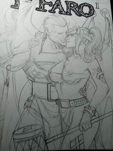 Demona Harley Sketches -- Finished DIANA & DARKSEID POSTER!!!