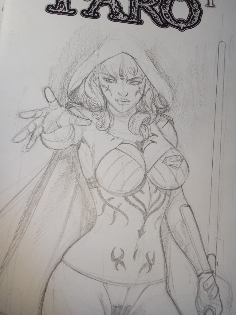 Venomized Sue Storm -- 1st Sketches -- Supergirl a Sith -- Faro's Lounge Baby,