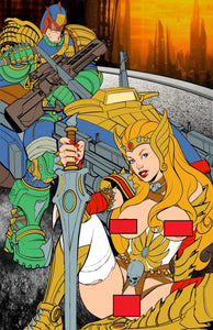 Maryland Cover Color Flats -- JUDGE DREDD & SHE-RA