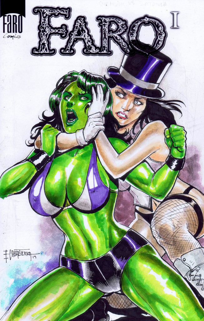 Zatanna V She-Hulk -- Special Topless Betty & Veronica Vintage Poster Preview