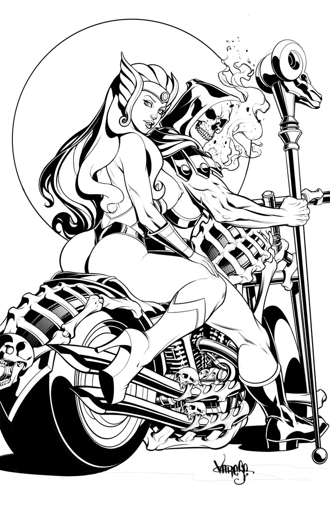 She-Ra & Skeletor Inks -- With a Cute Little Easter Egg for you to Giggle