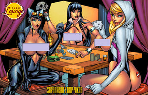 Pixi Runner Sketches -- Superhero Strip Poker Semi Final Colors