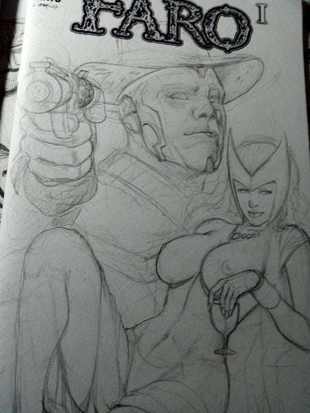 Scarlet Witch and Vision in a Red Dead Redemption Tribute