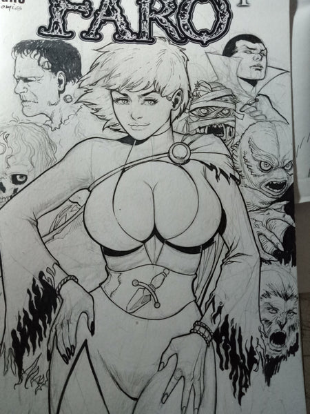 Power Girl as Elvira