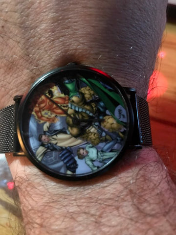 Fantastic Four mixed with Star Wars The Empire Strikes Back for a cool Marvel Watch