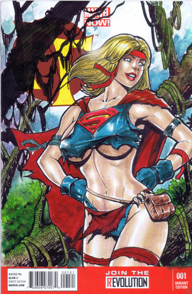 supergirl in the cavewoman savage land bikini