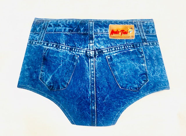 BOY SHORTS - NudeTini Bikini Denim Bottoms