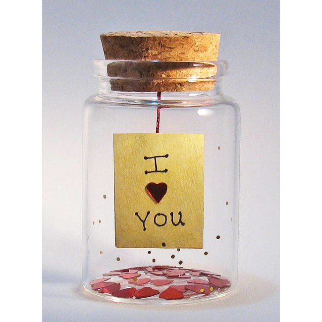 'I (heart) You' Message in a Bottle