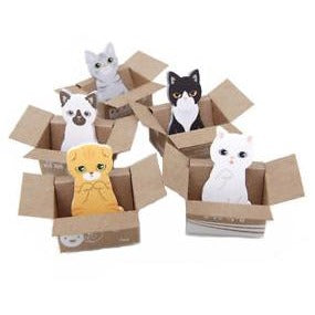 1.75-inch Kitty in a Box Post-It Bookmark - Single (breeds vary)