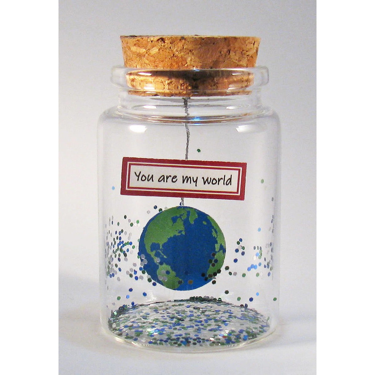 'You are my world' Message in a Bottle