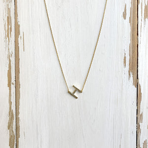 Initial Gold Necklace